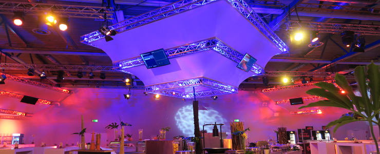 German Masters 2015 Traverseninstallation VIP-Bereich